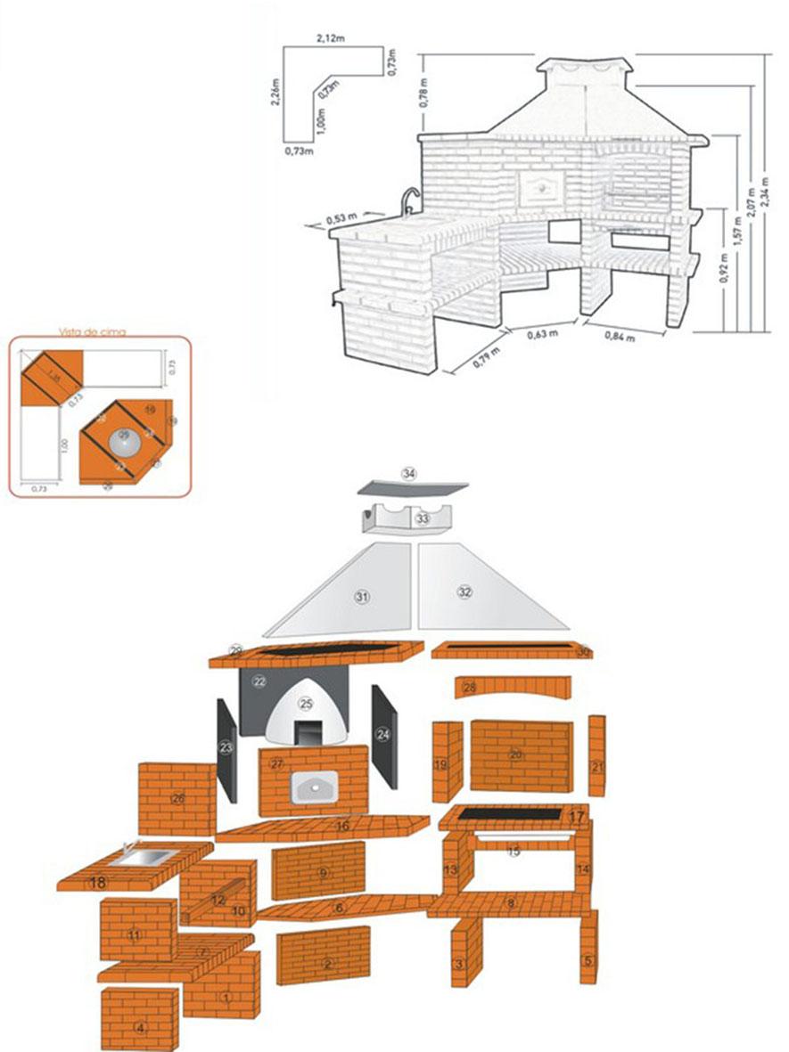 Схема установки барбекю